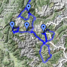 Map of High Passes Route